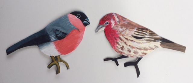 oiseaux décoration en plastique
