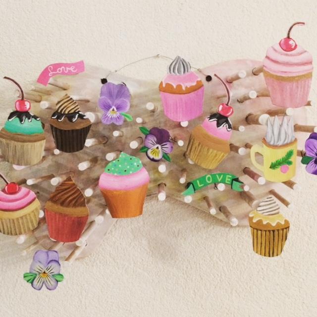 Tableau décoratif cupcake