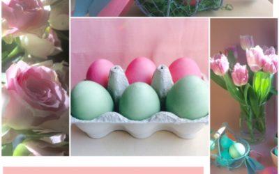 Déco de Pâques  en couleurs tendres.