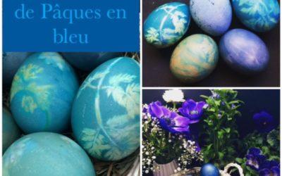 Décoration de Pâques en bleu.