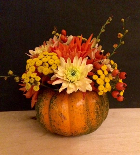 Décoration florale d'automne.