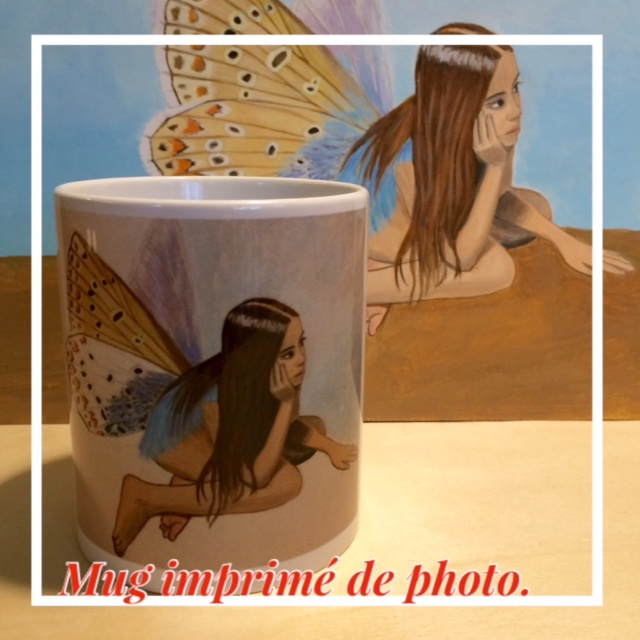 Mug imprimé de photos.